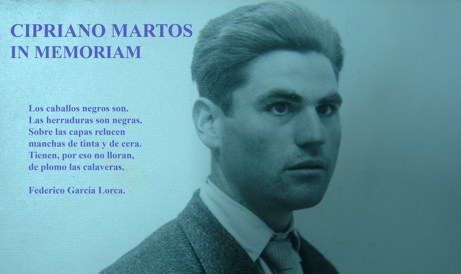 Cipriano Martos in memoriam