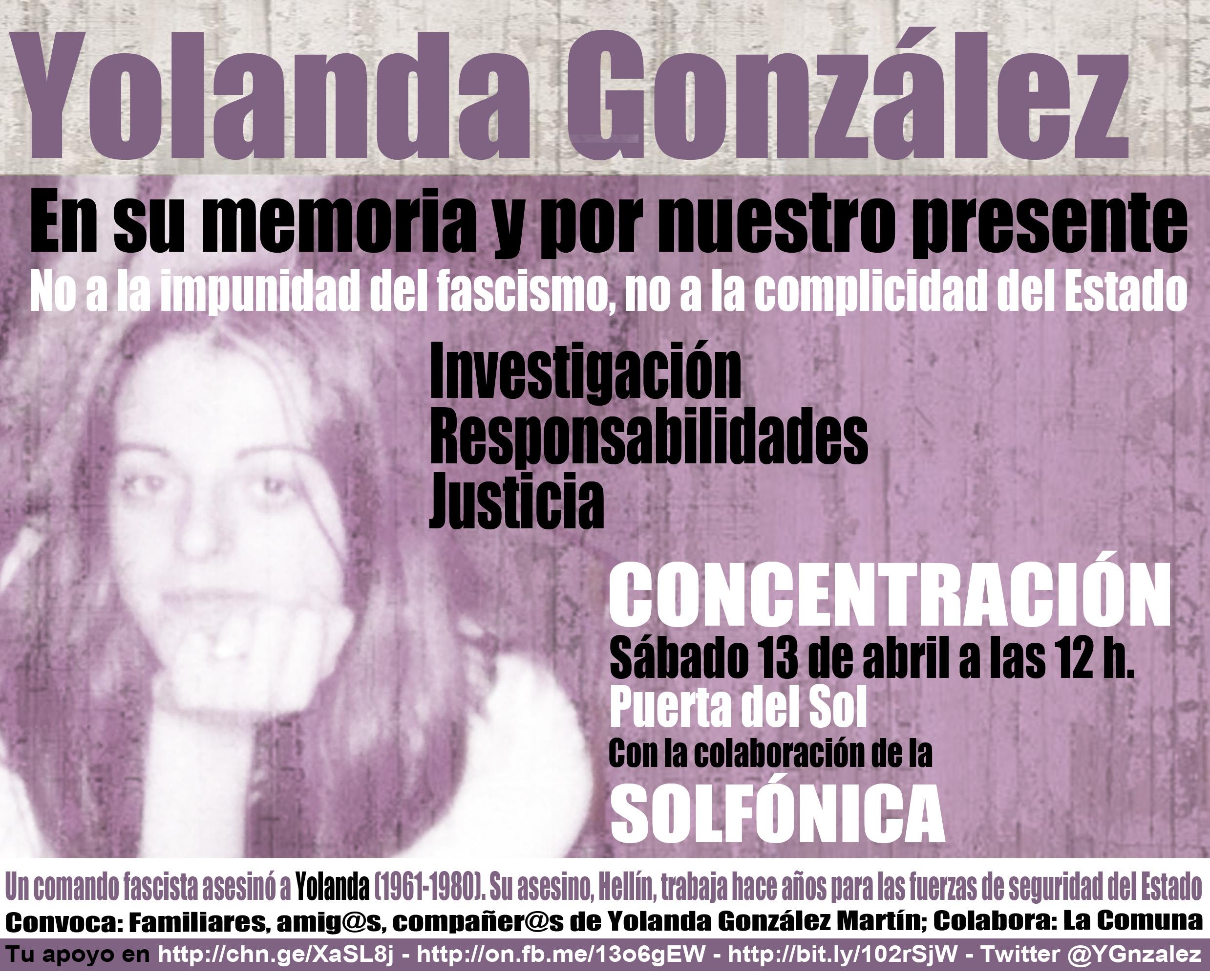 Manifestación Yolanda González 13 abril 2013