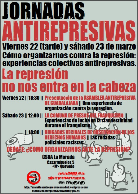 Jornadas Antirepresivas 23 marzo 2013