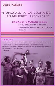 Homenaje a la lucha de las mujeres