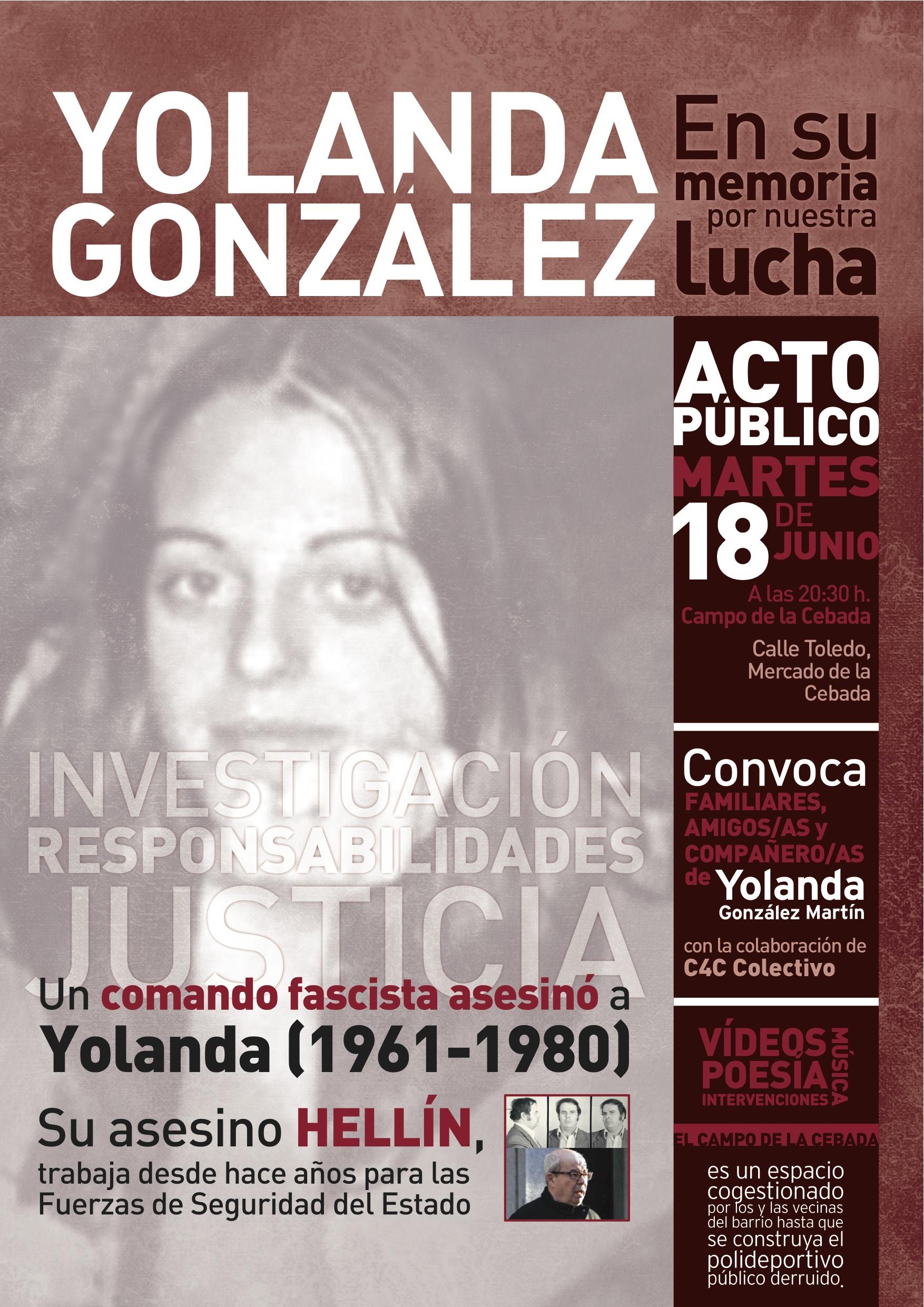 Campaña Yolanda González Madrid 18 de junio 2013 - Cartel_Yolanda_Cebada