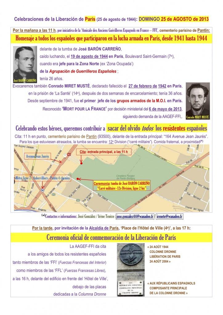 Liberación de París 25 de agosto de 2013