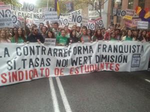 Manifestación educación 23 octubre 2013 Chato Galante2
