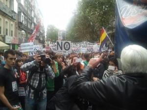 Manifestación educación 23 octubre 2013 Chato Galante3