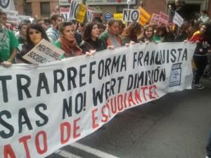 Manifestación educación 23 octubre 2013 Chato Galante4