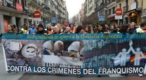 Manifestación Telemadrid, pancarta CeAQUA 12.01.2014