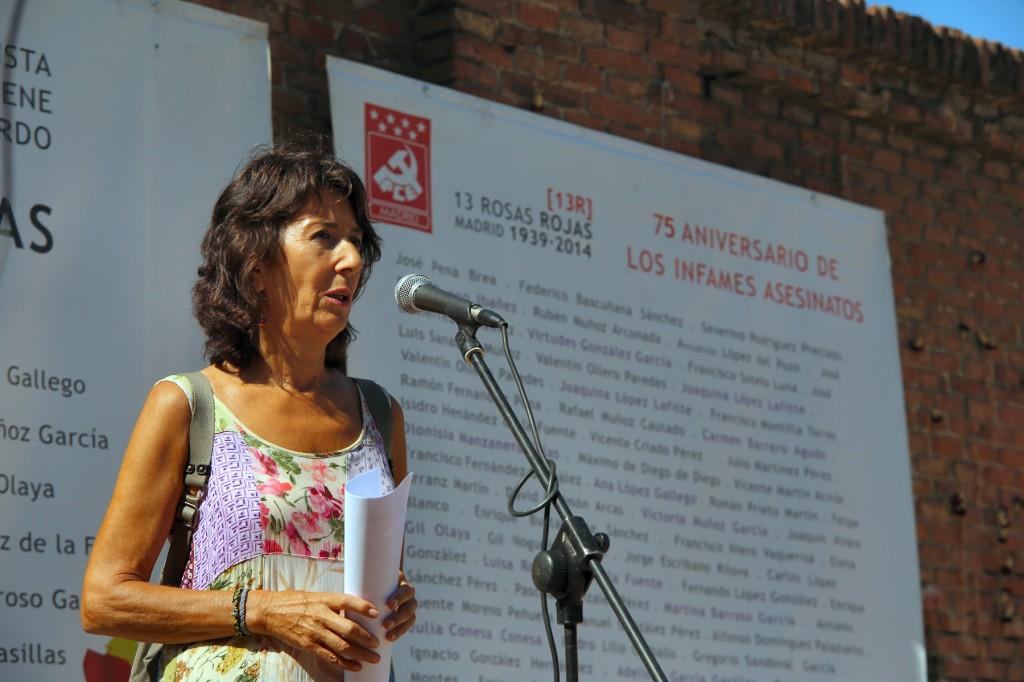 Nati Aniversario 13 rosas Cementerio Almudena 5 agosto 2014