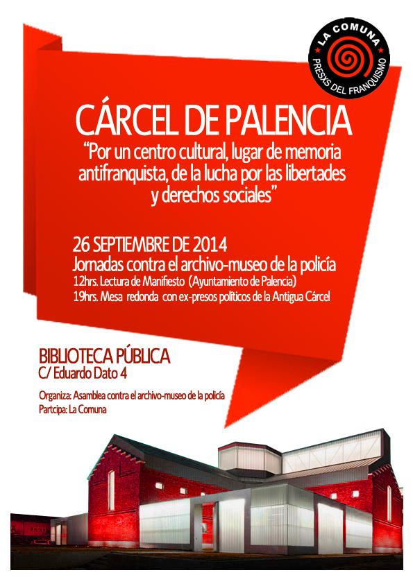Cartel Acto Palencia 26 sept