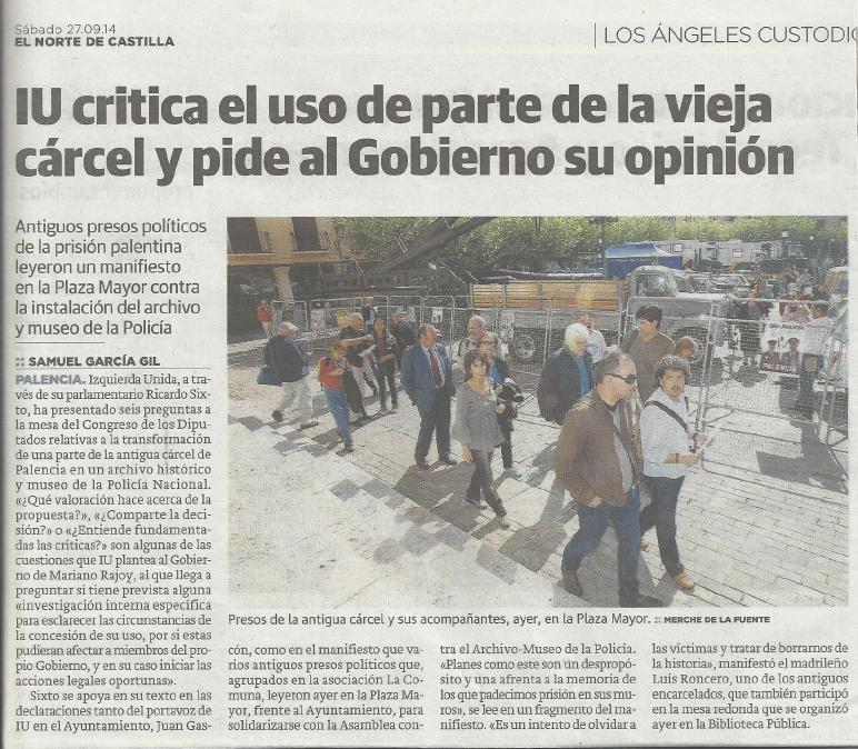 Norte de Castilla 27.09.2014 Palencia