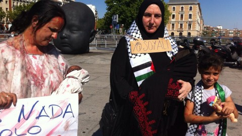 Madrid 2 agosto 2015 mani bebé asesinado Palestina