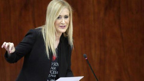 Cristina Cifuentes 18 de julio 1936 Asamblea de Madrid PP Condena Golpe de Estado 2016